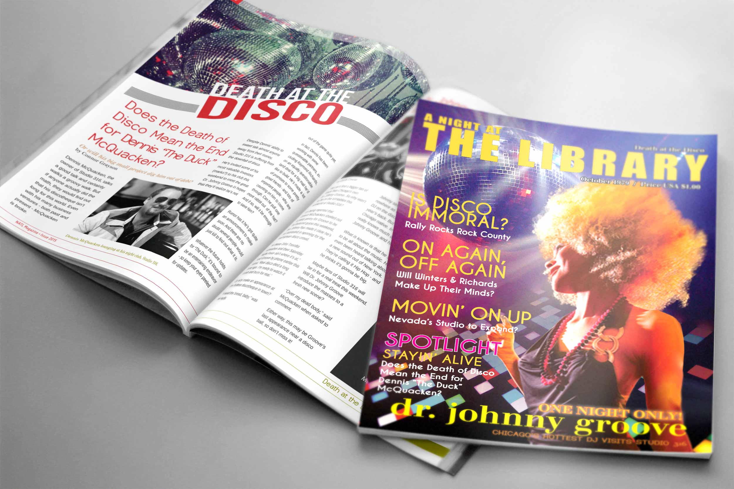 Death at the Disco Promotional Magazine