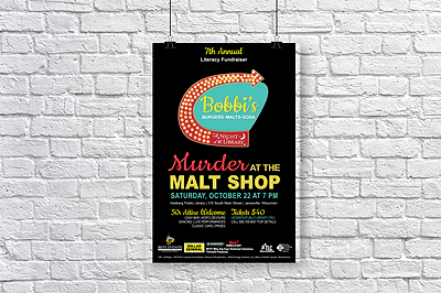 Murder at The Malt Shop Promotional Poster